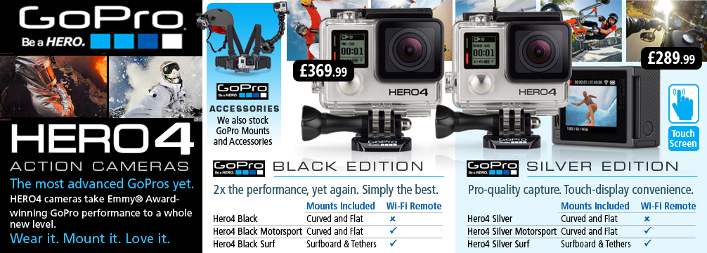 GoPro Hero 4 Action Cameras
