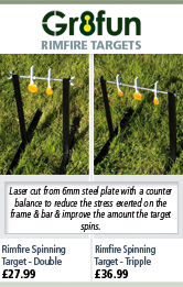Gr8fun Rimfire Spinning Targets - Double and Triple