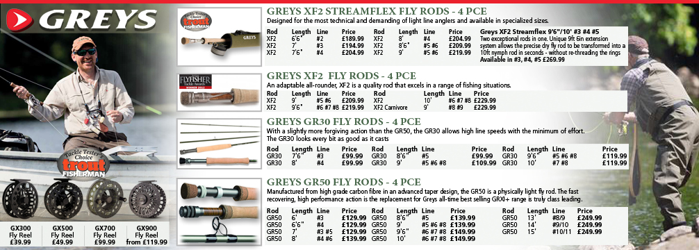 Greys Fishing Rods and Reels