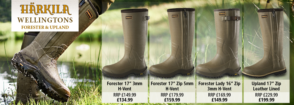 Harkila Forester and Upland Wellington Boots