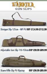 Harkila Adjustable Gun Slip - 110-150cm, Shotgun Slip - 125cm - Waterproof PU and Skane Rifle Slip - PU Ripstop