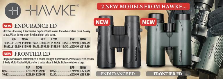 Hawke Ednurance ED and Frontier ED Binoculars