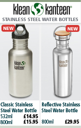 Klean Kanteen Classic Stainless Steel Water Bottles and Reflect Stainless Steel Water Bottle