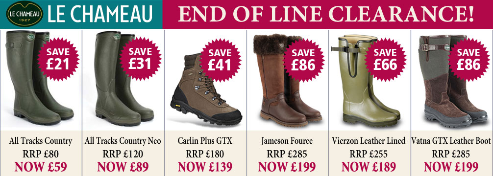 Le Chameau End Of Line Clearance Offers