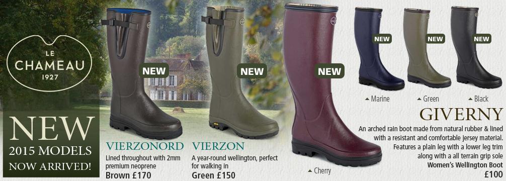 Le Chameau New 2015 Wellington Boots