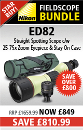 Nikon Fieldscope ED 82 - Straight inc Stay On Case and Nikon 25-75x MKII MC Eyepiece