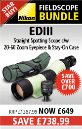 Nikon Fieldscope EDIII Straight Spotting Scope with 20-60x MKII Eyepiece & Stay-On Case