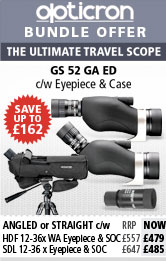 Opticron GS 52 Travel Spotting Scope