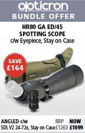 Opticron HR 80 GA ED Angled Spotting Scope Bundle with SDL 24-72x Eyepiece and Stay On Case
