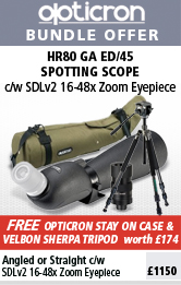 Opticron Spotting Scope HR80 GA ED/45 Angled, SDL V2 24-72x, Stay on Case & Traveller Carbon Pro Tripod