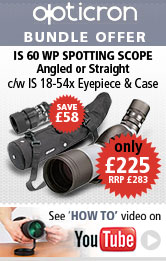 Opticron IS 60 WP Spotting Scope Bundle Offer
