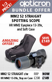 Opticron MM2 52 Straight Spotting Scope with 13-39x HR Eyepiece & Soft Case
