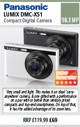 Panasonic DMC-XS1 Compact Digital Camera - White or Black
