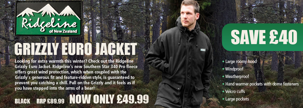 Ridgeline Grizzly Euro Jacket - Black