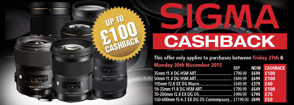 Sigma Cashback Offer