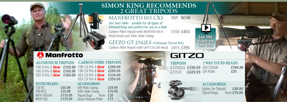 Simon King Recommends Tripods