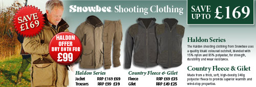 Snowbee Shooting Clothing