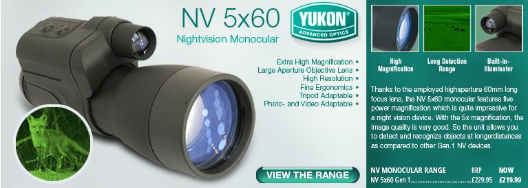 Yukon NV 5x60 Gen 1 Nightvision Monocular