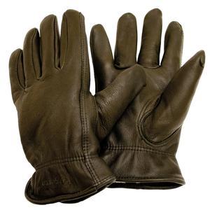 Image of 5etta Classic Line Winter Driver Deerskin Gloves - Dark Green