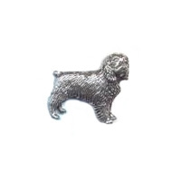 A R Brown Beagle Pewter Pin Badge