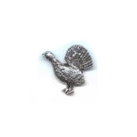 A R Brown Capercaillie Pewter Pin Badge
