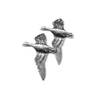 A R Brown Geese Pewter Pin Badge