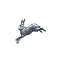 A R Brown Hare Pewter Pin Badge