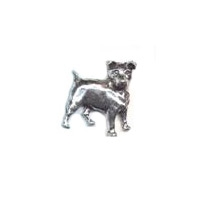 A R Brown Jack Russell Pewter Pin Badge