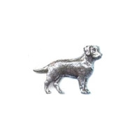 A R Brown Labrador Pewter Pin Badge