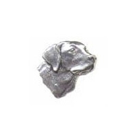 A R Brown Labradors Head Pewter Pin Badge