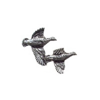 A R Brown Partridge Pewter Pin Badge