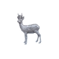 A R Brown Roebuck Pewter Pin Badge