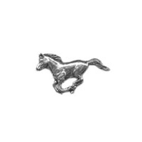 A R Brown Running Horse Pewter Pin Badge