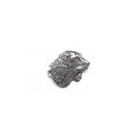 A R Brown Small Spaniels Head Pewter Pin Badge