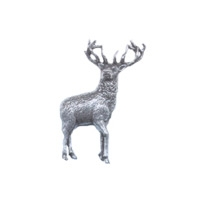 A R Brown Stag Pewter Pin Badge
