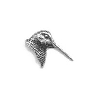 A R Brown Woodcocks Head Pewter Pin Badge