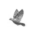 A R Brown Woodpigeon Pewter Pin Badge