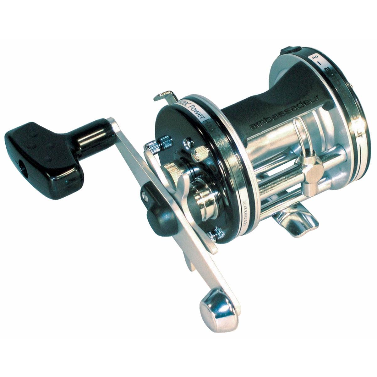 Abu garcia ambassadeur 6500c power handle multiplier reel for Ambassadeur fishing reel