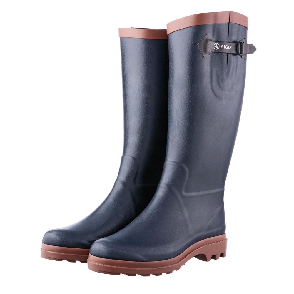 aigle aiglentine fur wellington boots s marine