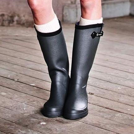 aigle aiglentine wellington boots women 39 s asphalte. Black Bedroom Furniture Sets. Home Design Ideas