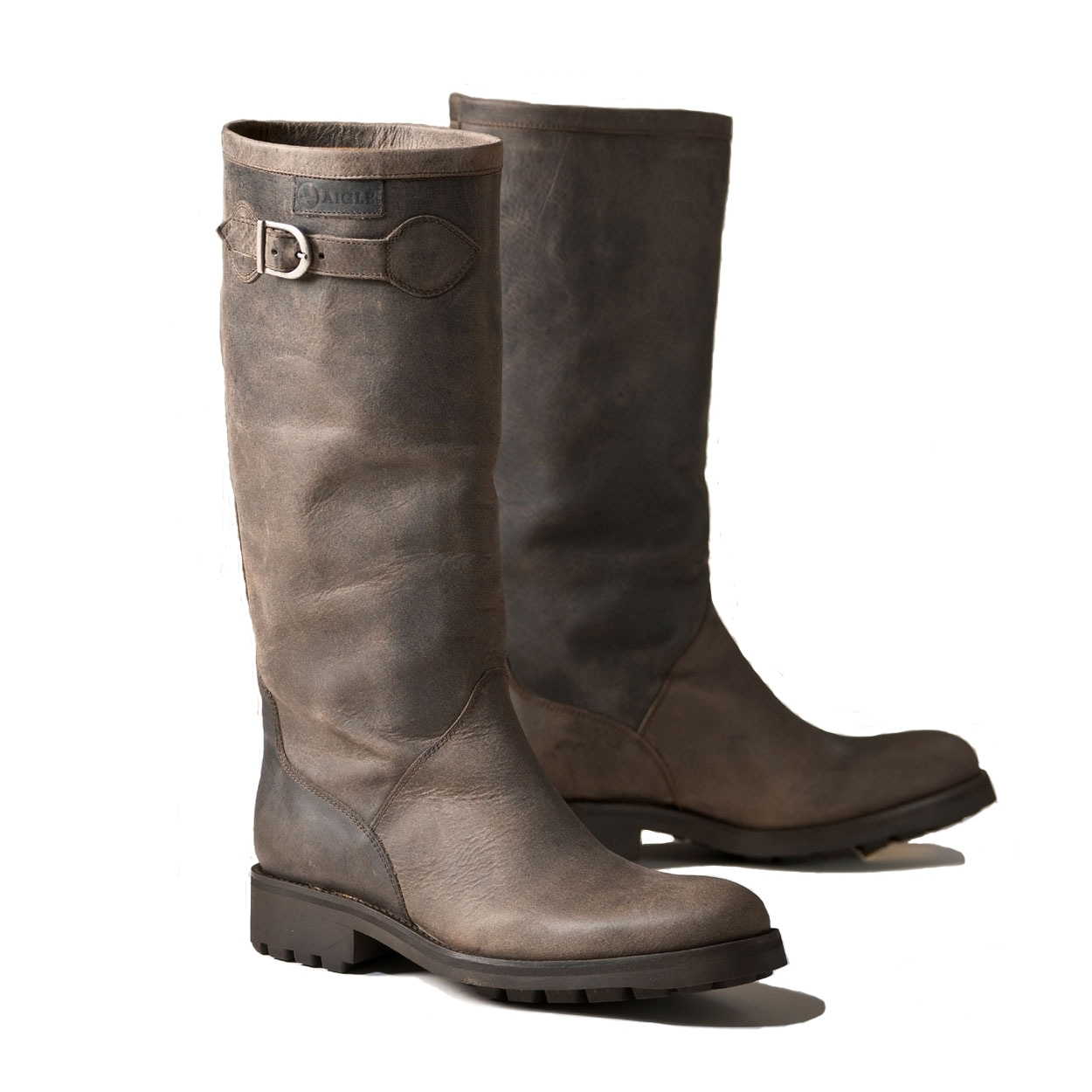 Dark Brown Leather Boots | Santa Barbara Institute for