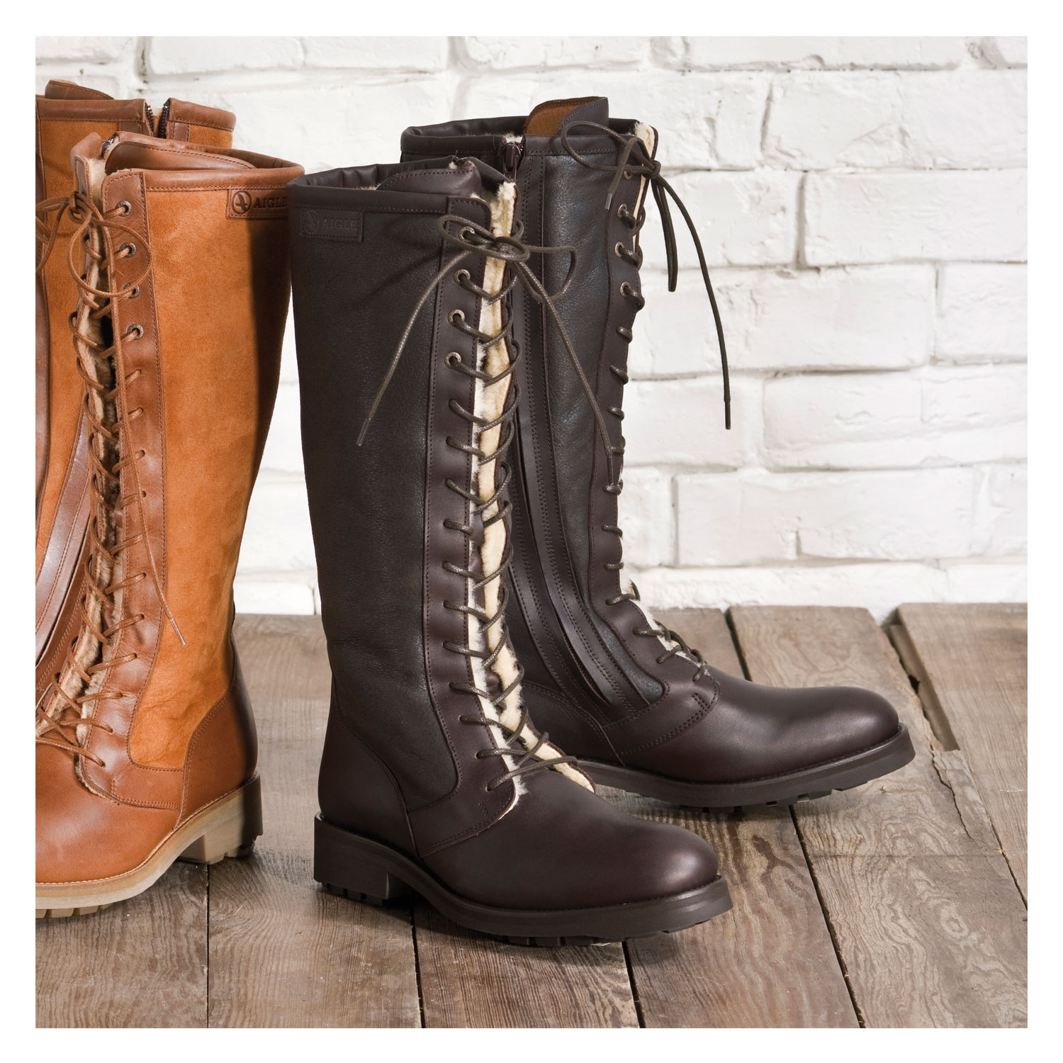 Dark Brown Leather Boots Women | Santa Barbara Institute for