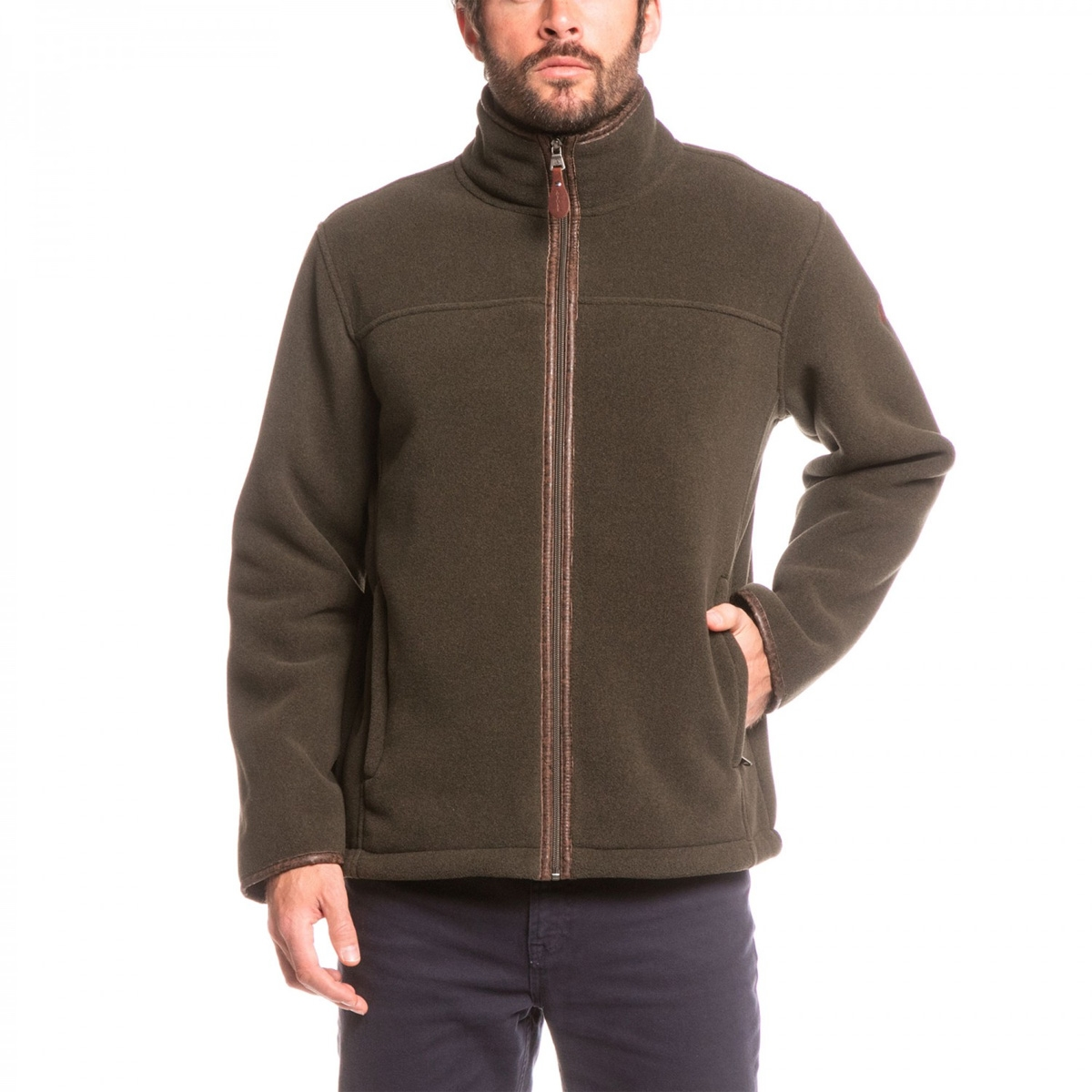 Aigle Garrano Polartec Sheepskin Fleece Jacket - Mouton Bronze ...