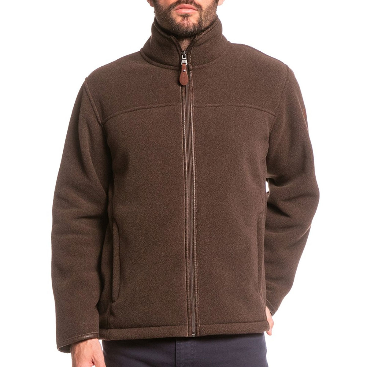 Aigle Garrano Polartec Sheepskin Fleece Jacket - Mouton Marron ...