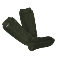 Image of Aigle Gotland Fleece Sock - Bronze (Dark Green)