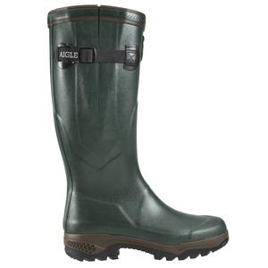 Image of Aigle Parcours 2 ISO Wellington Boots (Unisex) - Bronze (Dark Green)