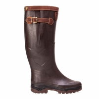 Image of Aigle Parcours 2 Signature Wellington Boots - Wide Calf (Unisex) - Brun