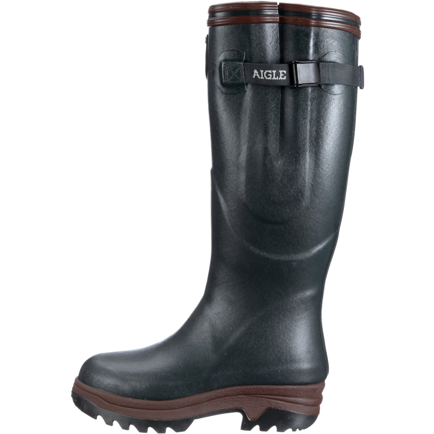 Image of Aigle Parcours ISO Wellington Boots (Unisex) - Bronze (Dark Green)