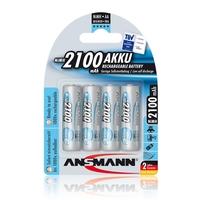 Ansmann AA Size - 4 x 2100mAh - Max e NiMH Rechargeable Batteries