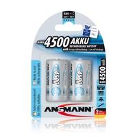 Ansmann C Size - 2 x 4500 mAh - Max e NiHM Rechargeable Batteries